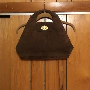 Pibra Italian leather suede bag